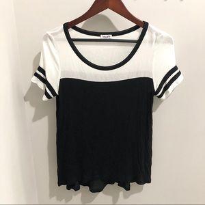 Splendid Black & White Stripe Soft T-Shirt sz M ✨